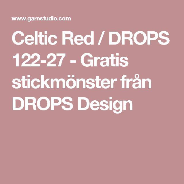 Celtic Red / DROPS 122-27 - Gratis stickmönster från DROPS Design