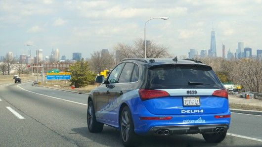 British-based auto-firm Delphi has completed a journey from San Francisco to New York with its self-driving car. The trip, announced in March, covered nearly 3,400 miles (5,500 km) and took nine days. Delphi says it is the first US coast-to-coast trip ever taken by an automated vehicle.