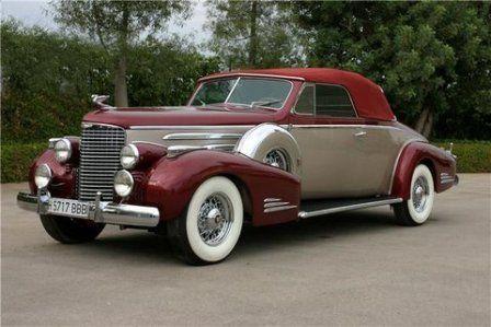 1938 Cadillac Series 38-90, V16 Convertable Coupe - (Cadillac Motors, Detroit, Michigan 1902- present)