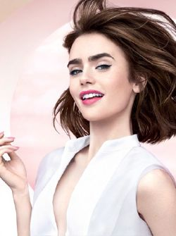 Lily Collins for Lancôme. Pinned by @lilyriverside