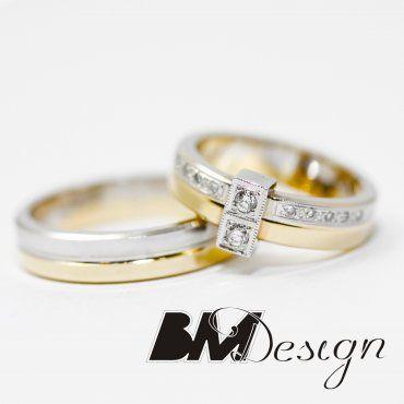 Obrączki ślubne Rzeszów, obrączki z kamieniami, obrączki dwukolorowe, obrączki na zamówienie Wedding rings with diamonds