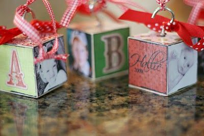 DIY block ornaments