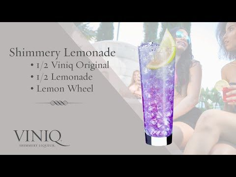 Viniq Shimmery Liqueur Cocktails: Shimmery Lemonade - Sunny weekends call for this glass of freshness in hand. Shimmer as you unwind on the patio, flaunting the glam life.INGREDIENTS:1/2 Viniq Original1/2 LemonadeLemon WheelINSTRUCTIONS:Build ingredients in glass over ice. Garnish with a lemon wheel.  Refreshing.