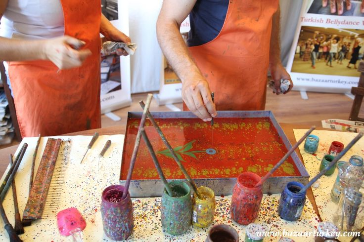 Turkish Ebru Art Class with our Friends in Sultanahmet - Istanbul / August 2016 http://www.bazaarturkey.com/tours/turkish_marbling_lesson.html
