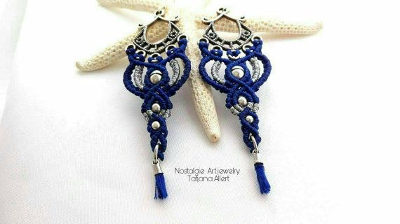 Hey, I found this really awesome Etsy listing at https://www.etsy.com/listing/492871100/macrame-earrings-micromacrame-bohemian