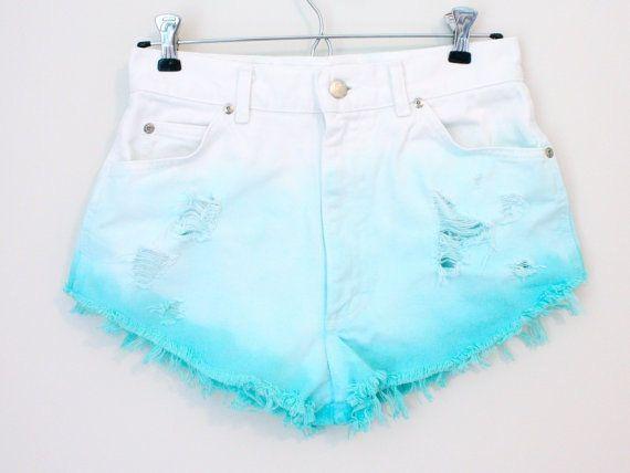 Custom dyed high waisted shorts on Wanelo