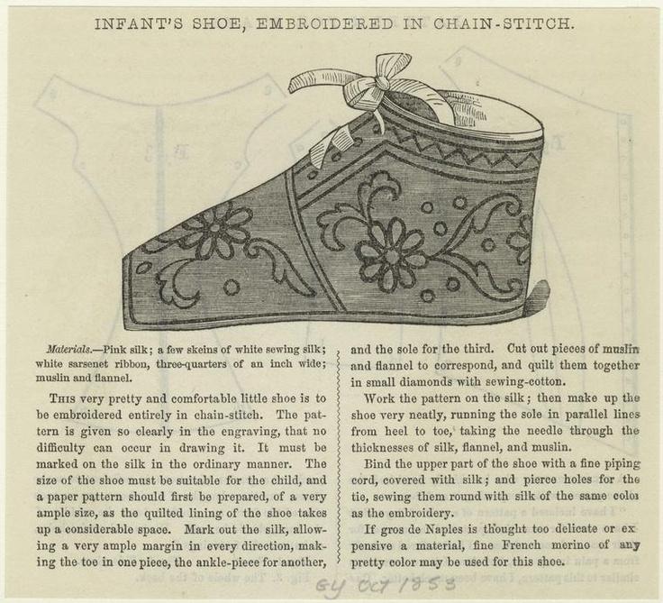 baby shoe 1853