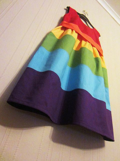 rainbow dress violet by kitschycoo, via Flickr