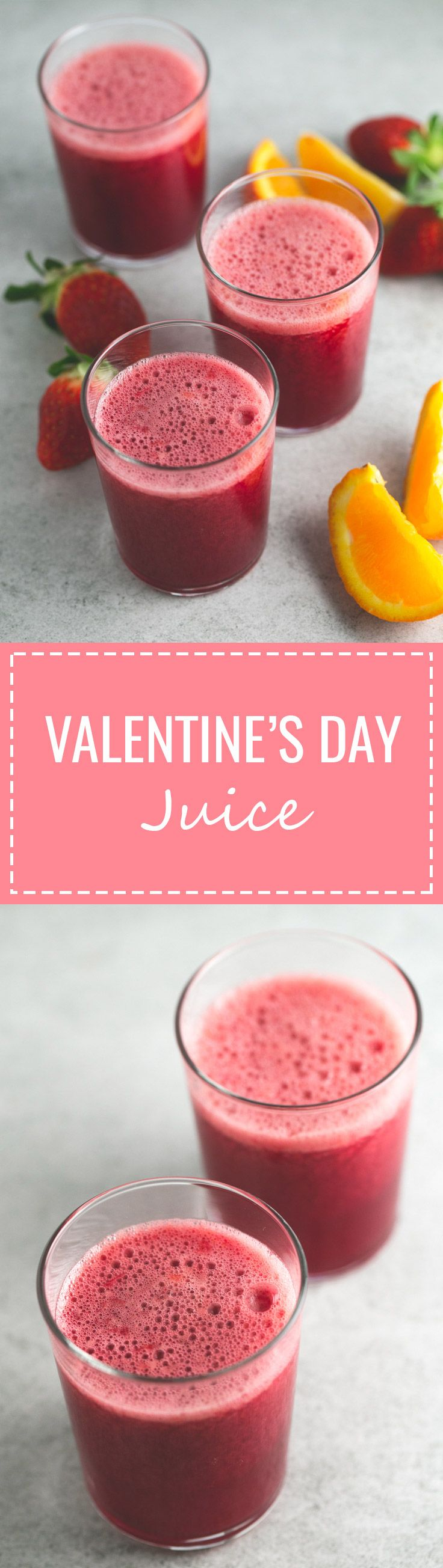 Valentine's day juice - This Valentine's Day juice has a beautiful and vibrant color that is perfect for this special occasion. It's the perfect drink to celebrate the love.