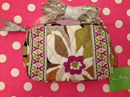 New Vera Bradley Portobello Road Mini Pink Chain Hipster Purse Crossbody Bag | eBay