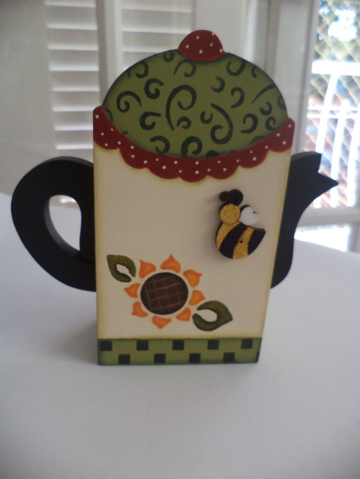 Porta adoçante <br>pintura e aplique abelhinha.