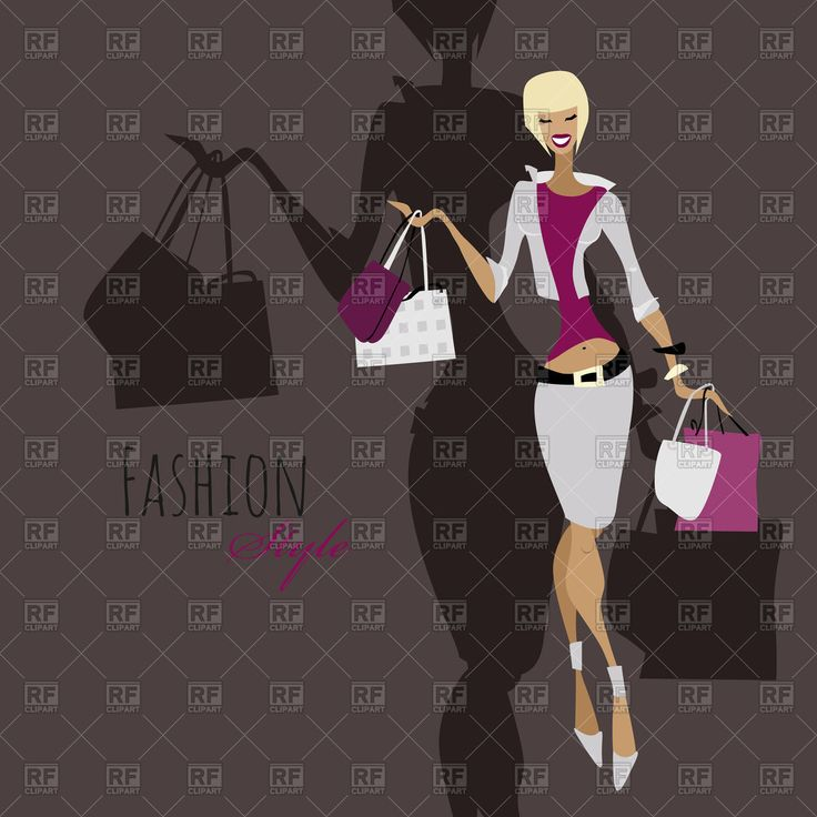 Royalty Free Vector image of Fashion woman with shopping bags #77984 includes graphic collections of shopper, shopping, woman and People. You can download this image clipart in EPS and JPG format. #rfclipart.com #vectorart #vectorclipart #vectorstock #graphicdesign #diseñográfico #graphisme #grafikdesign #графическийдизайн