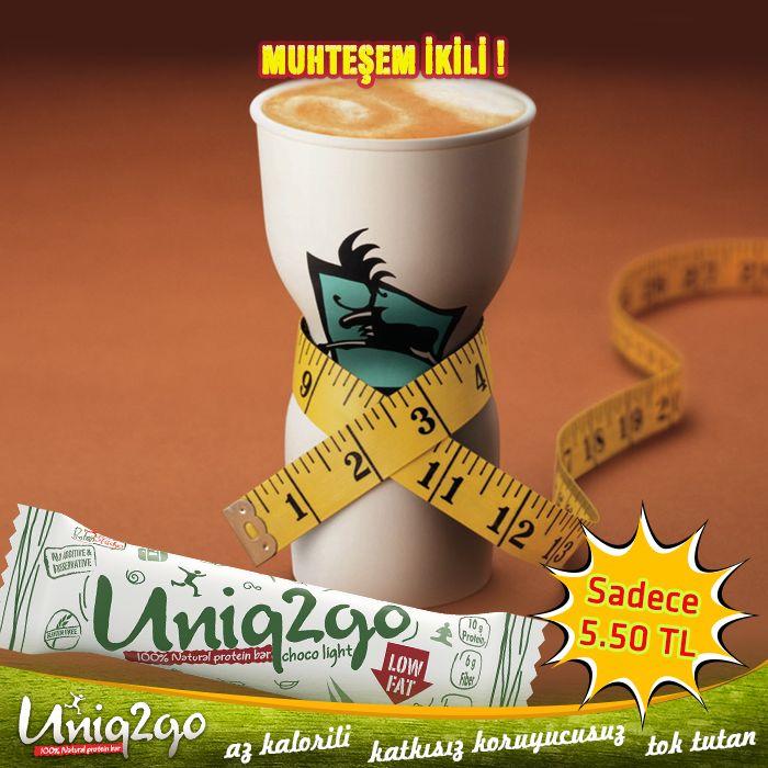 #uniq2go!  Non-fat latte'nin yanında! ;) www.SeniTokTutar.com  #proteinbar #hafif #azkalorili #diyet #çikolata #toktutar  #hurma #badem #%100dogal #proteinbar #hafif #azkalorili #çikolata #toktutar #hurma #badem #%100dogal #çikolata #düşükkalori #protein