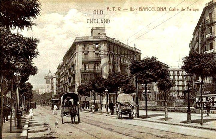 Carrer Pelai, 1888, Barcelona.