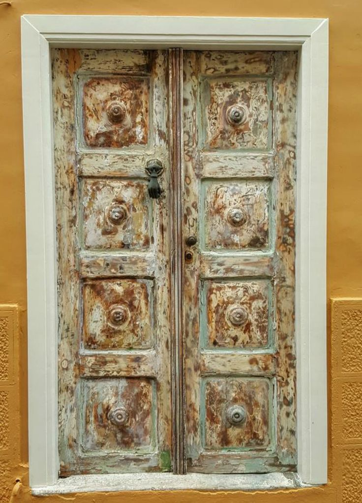 beautiful door from Syros island, Greece