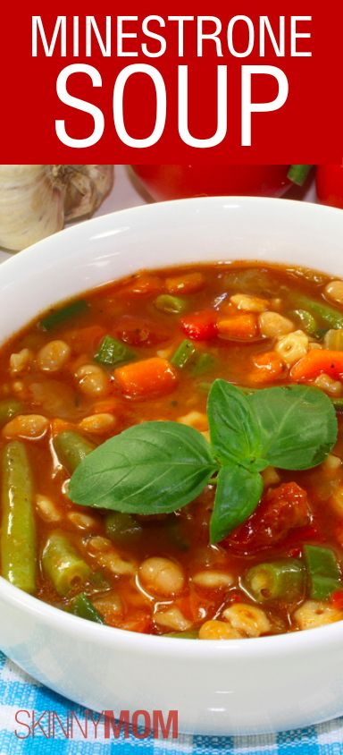 Skinny Minestrone Soup Recipe : you could leave out the whole wheat pasta for an even healthier version.