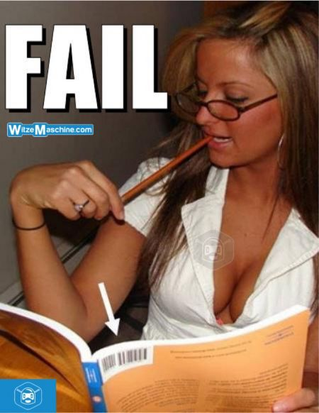 Blondinenwitze - Fail Bilder - Blonde Schülerin beim Lernen