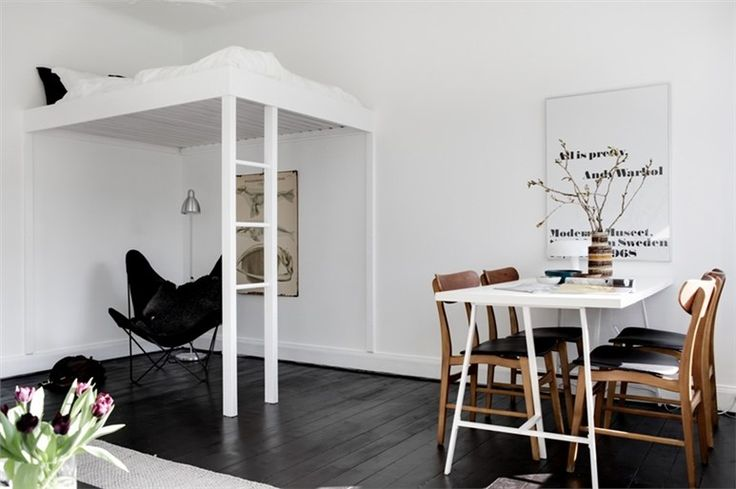 Awesome grown-up loft bed.