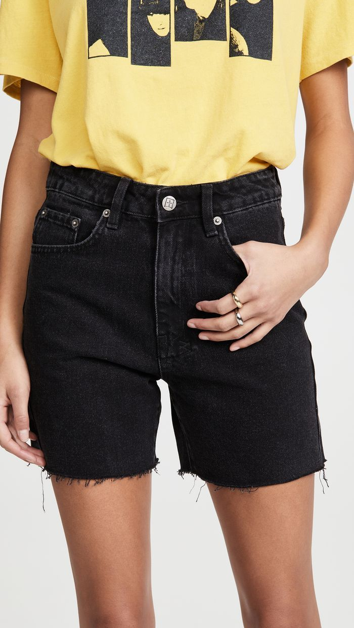 20 Basics Later, and You're Practically French   Denim shorts women ...