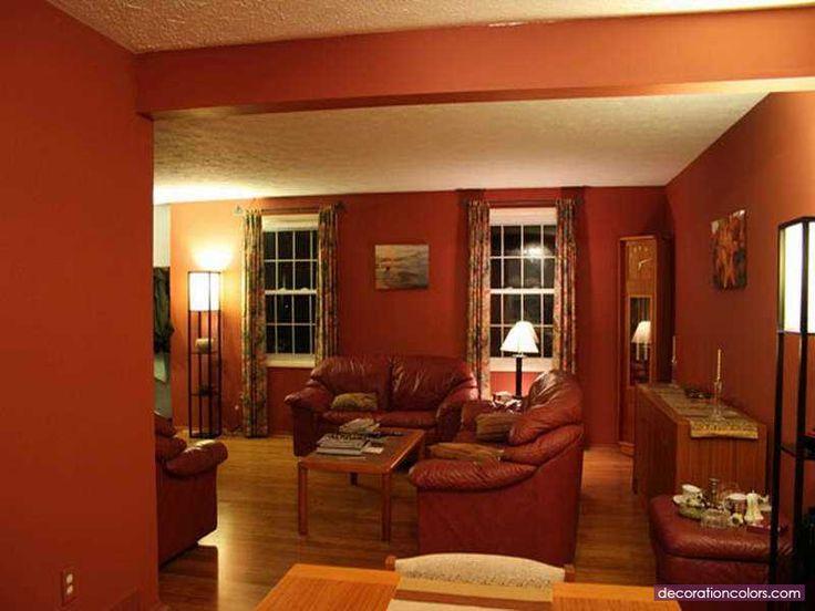 11 besten Farbkombinationen in Rot Bilder auf Pinterest - wandgestaltung wohnzimmer orange