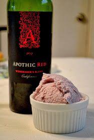 Simple Savory & Satisfying: Red Wine Ice Cream