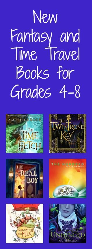 New Fantasy and Time Travel b.ooks for grades 4-8. Especially interested in the Neil Gaiman title - described as a great model for writing.