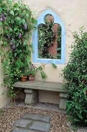 garden mirror trompe l'oeil - Google Search