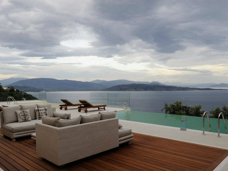 Villa Aurilia has an area of 540 sq.m and over three levels, with private land of 2.234 sq.m and terrace areas of 560 sq.m. It is consisted of 8 bedrooms, 6 bathrooms, large sitting rooms (parlor) with play areas that lead to beautiful pergolas, spacious living rooms with access directly to the heated pools with its own kitchen and many utility areas. #vacationrentals #villas