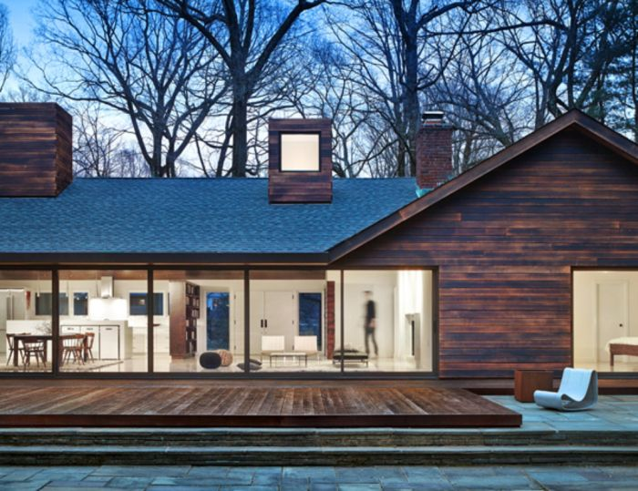 The long island residence is located in a rural community on the edge of the long island sound long island residence by cdr studio
