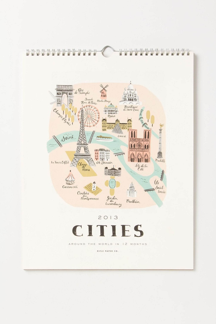 Rifle Paper Co. 2013 Cities Calendar - love this