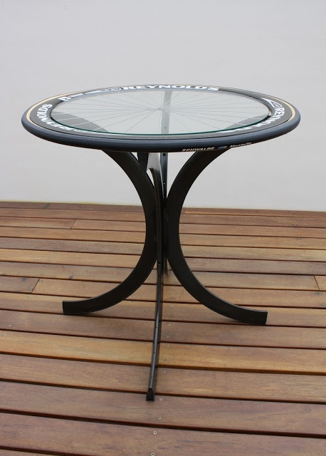 Carbon Footprint Design: Carbon Fiber DV Rim Coffee Table 807 #bike #wheel #