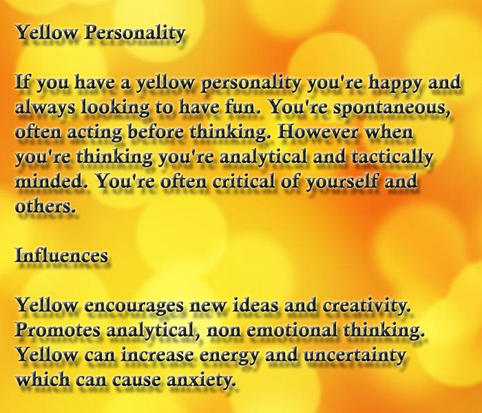 Color Yellow  Color Psychology & Personality Meaning