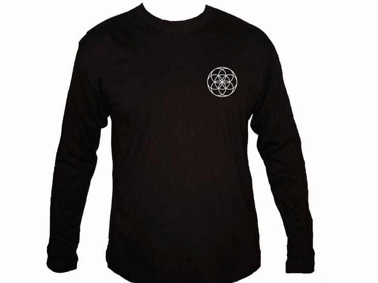 Sacred geometry Seed of life Kabbalah symbols black customized sleeved t-shirt S-2XL by mycooltshirt on Etsy
