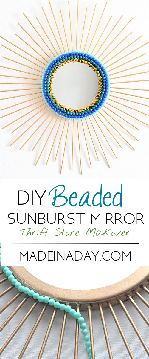 Beaded Sunburst Mirror | Made in a Day