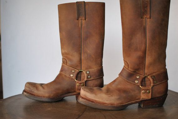 Vintage SANCHO BOOTS men's western leather by TheArtofReUSE