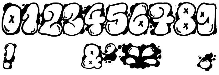 Graffiti bubble numbers