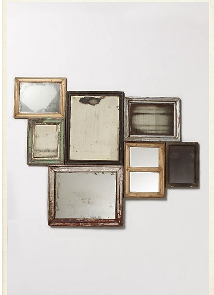 mirrorsWall Decor, Ideas, Vintage Mirrors, Antiques Mirrors, Mirrors Collage, Vintage Frames, Old Frames, Pictures Frames, Mirrors Mirrors
