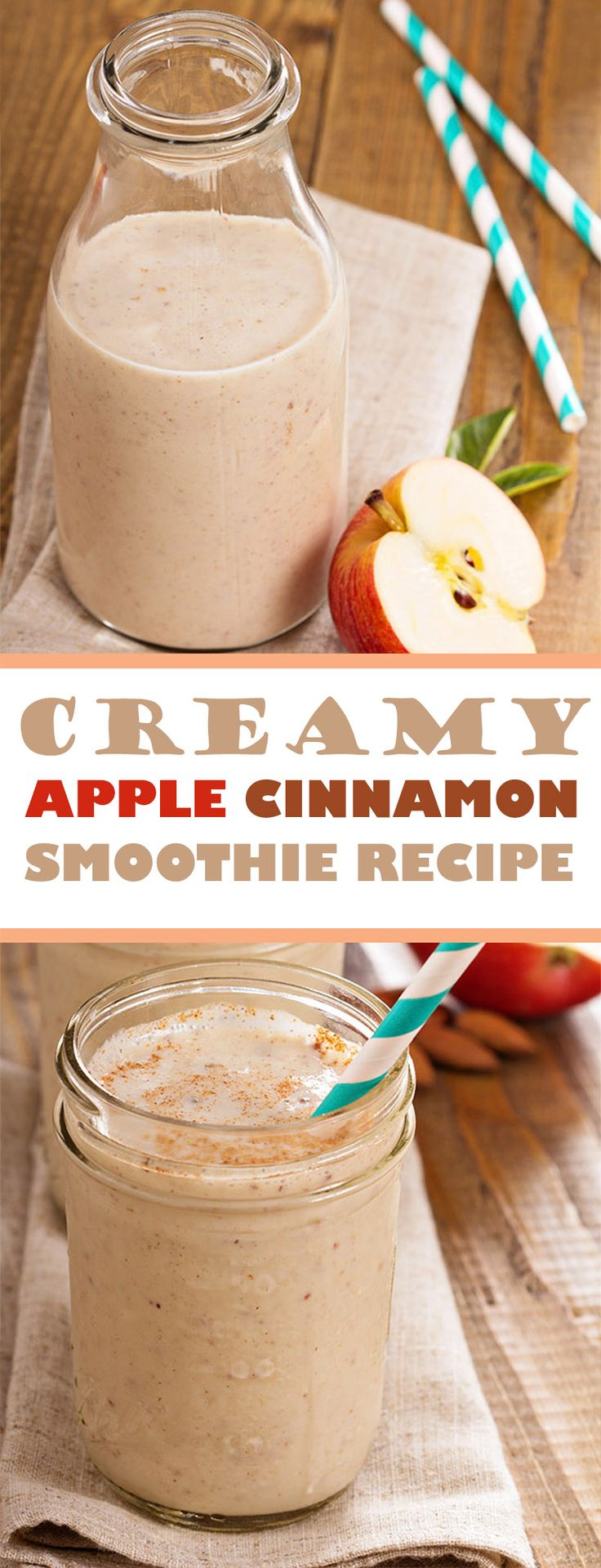 CREAMY APPLE CINNAMON SMOOTHIE RECIPE | Food Blog | Cooking Recipes | Recipe | Smoothies | Food | Drinks