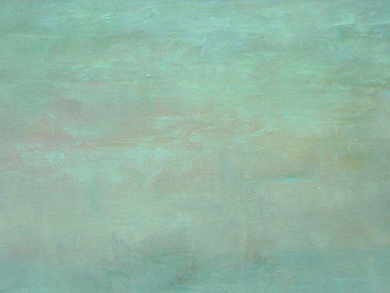Dit is een origineel olieverfschilderij op een groot 30 x 40 inch gallery gewikkeld doek met 1-1/2 inch brede randen. De randen van het doek zijn nietje gratis en ik heb ze wit geschilderd zodat kunt u het indien gewenst ingelijste kunst ophangen.  Ik heb een zachte, licht groen gebruikt voor het veld in dit abstract landschap van een vroege lente. De diepblauwe hemel heeft subtiele wolken in lichtblauw met ondertonen van roze en goud. Ik heb de lichtste groene accenten toegevoegd aan de...