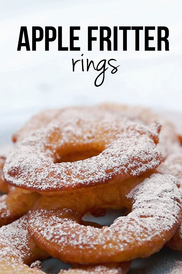 Easy Apple Fritter Rings