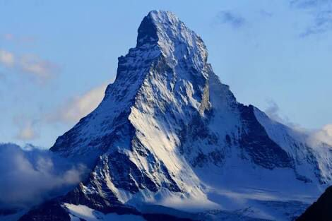 """The German name of the mountain, Matterhorn, derived from the words Matte meaning """"meadow"""", and Horn, which means """"horn""""."""