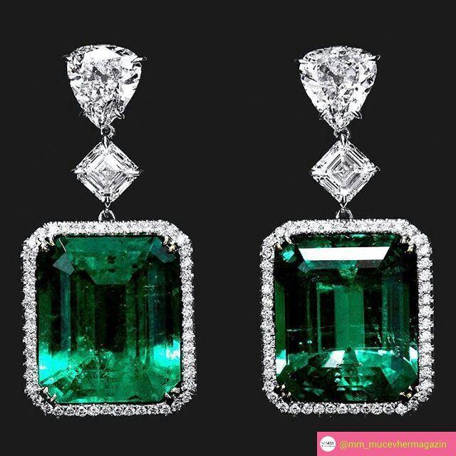 @mm_mucevhermagazin. #emeralds #diamonds #earrings