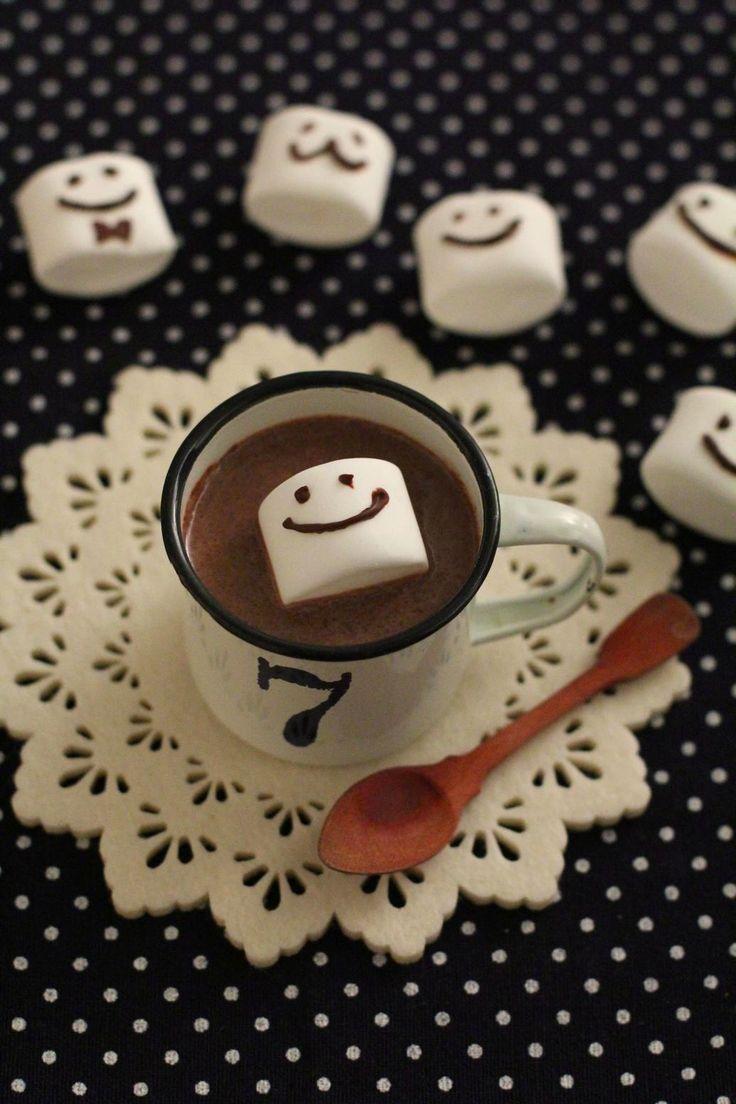 バレンタインに♡ スマイルHOTチョコレート