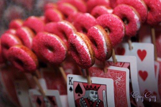 Casino card doughnuts