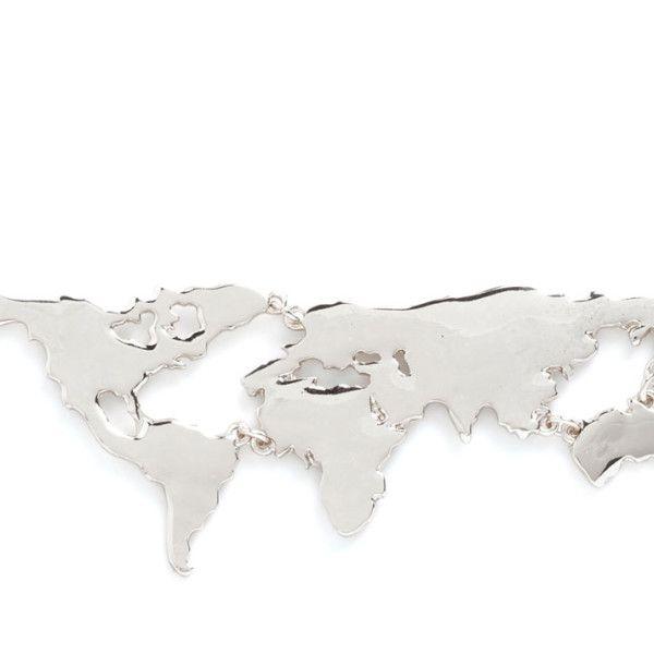 Best 25 map necklace ideas on pinterest world map necklace world map necklace silver gumiabroncs Images