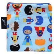 Superhero Boy Reusable Snack Bag, Large. An eco-friendly alternative to plastic food storage bags!