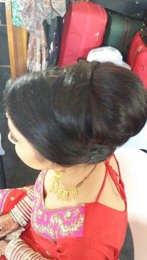 Structured Bridal updoo. Bridal bun.  Asian Bridal hairstyling