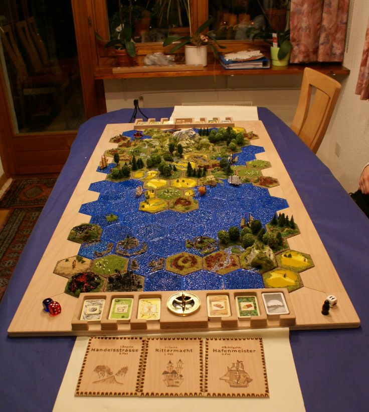 a very smart board for Settlers of Catan.
