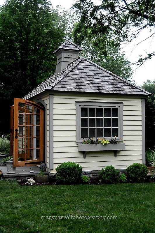 491 best outbuildings sheds guest play houses images for Shed roof cottage