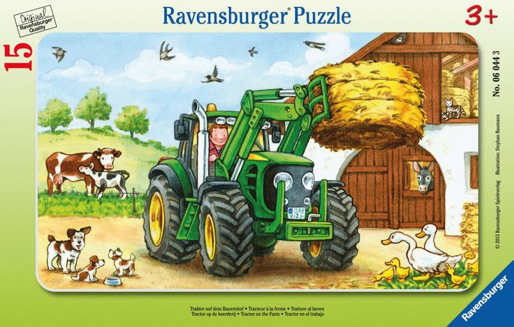 Puzzle Traktor auf dem Bauernhof 15 Teile, Ravensburger- myToys